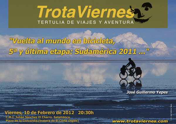 Vuelta al mundo en bicicleta, 5ª etapa: Sudamérica 2011.