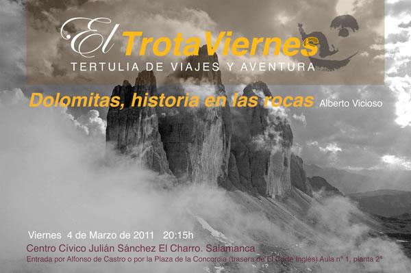 Los Dolomitas, historia en las rocas.